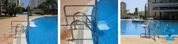 Silla salvaescaleras piscinas sube escaleras para piscinas for Sillas de piscina
